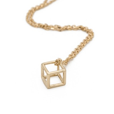 The Cube necklace (18k Gold)