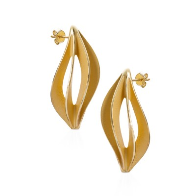 Fern earrings gold