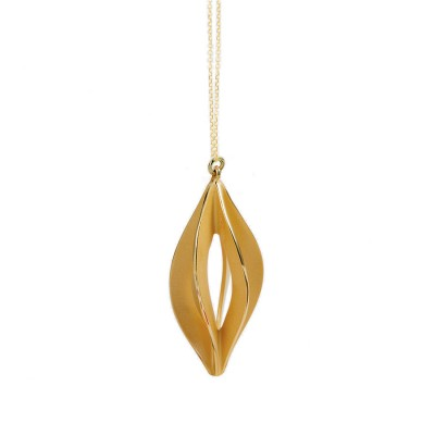 Fern necklace gold