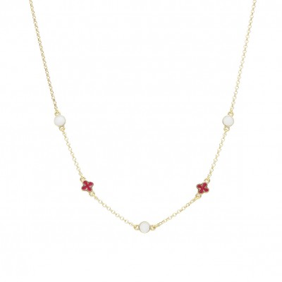 Amalia carmine necklace