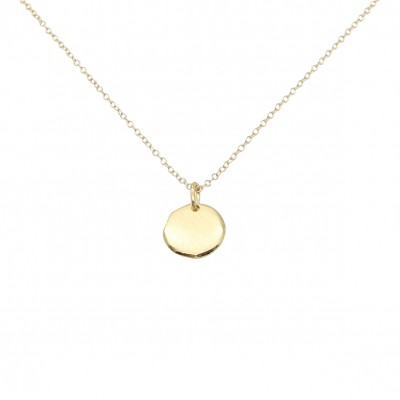 Polygon disc necklace gold