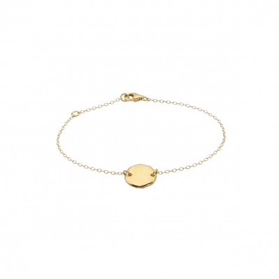 Polygon disc gold bracelet