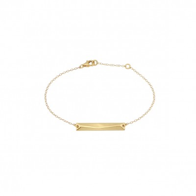 Polygon bar bracelet gold