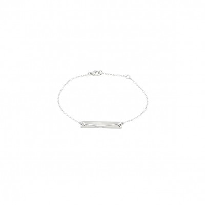 Polygon bar bracelet silver
