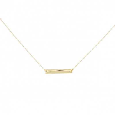 Polygon bar necklace gold