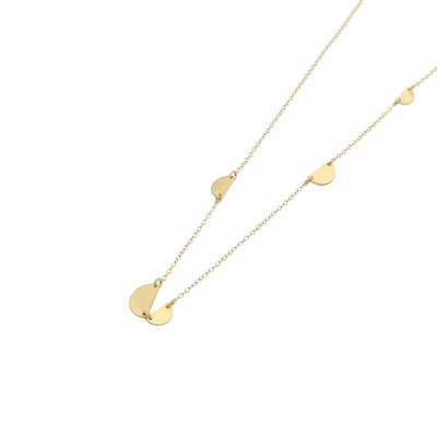 Birch necklace gold